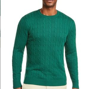 New Club Room Men's Cable Crewneck Sweater size S
